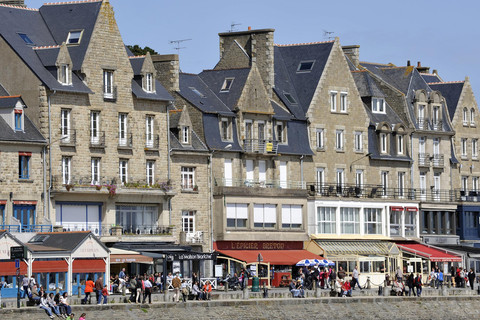 Typical city in Brittany