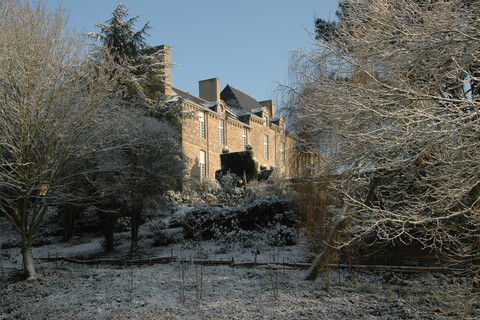 The Chateau de La Ballue and its gardens in the snow